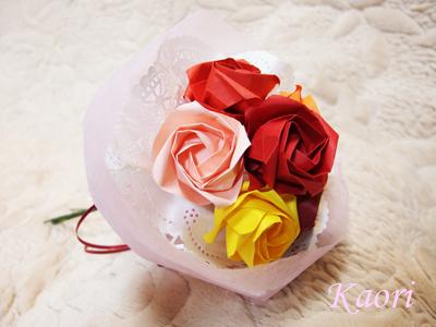 折り紙の 折り紙の花束 作り方 : cafe.crafttown.jp