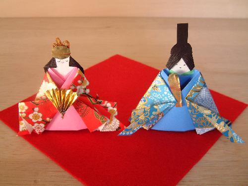 ハート 折り紙:折り紙 ひな人形 折り方-studental.net