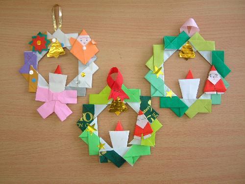 クリスマス 折り紙 クリスマス 折り紙 リース : hagifood.com