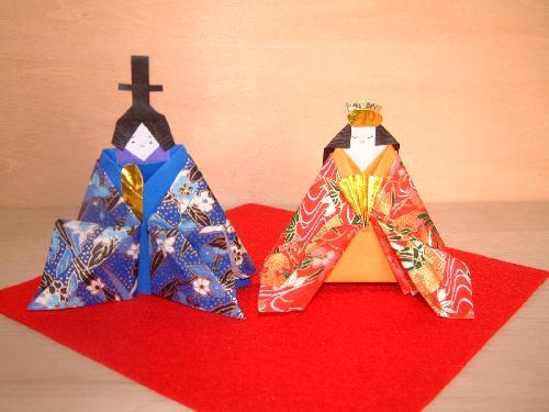 ハート 折り紙 : 折り紙 ひな人形 折り方 : studental.net
